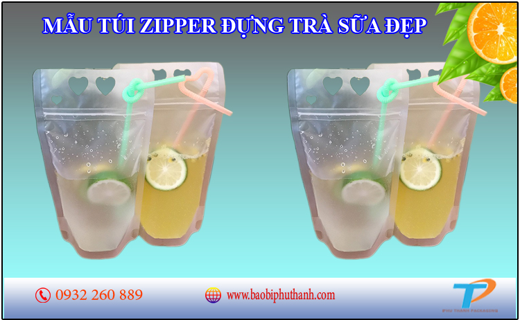Túi zipper đựng trà sữa