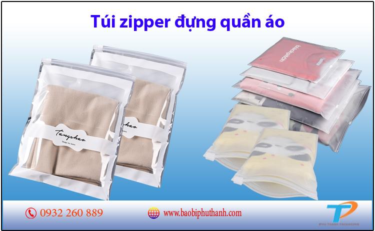 Túi zipper đựng quần áo