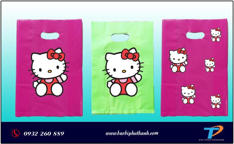 Túi ni lông Hello Kitty
