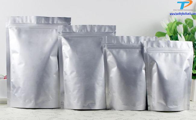 Túi zipper bạc